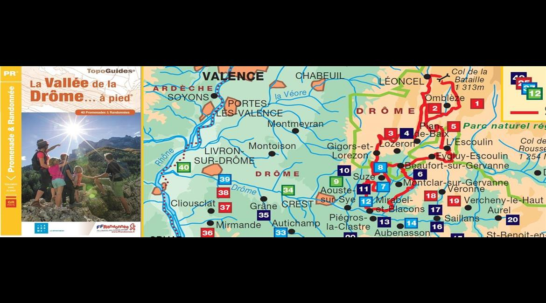 La vallée de la Drôme à pied