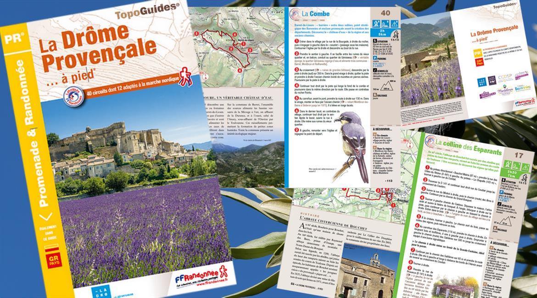 Nouveauté 2021 : topoguide La Drôme Provençale à pied
